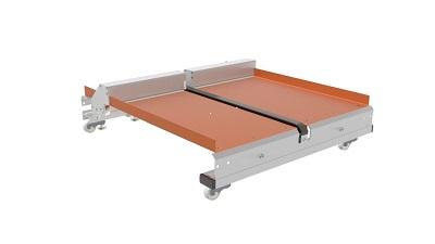 Twin push tray 3d model of tray
