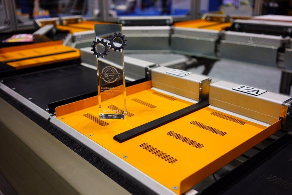 Twin push tray with MHI innovation award